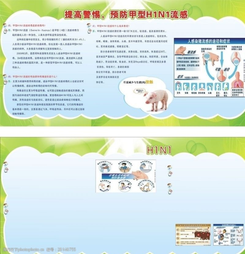 猪流感宣传栏