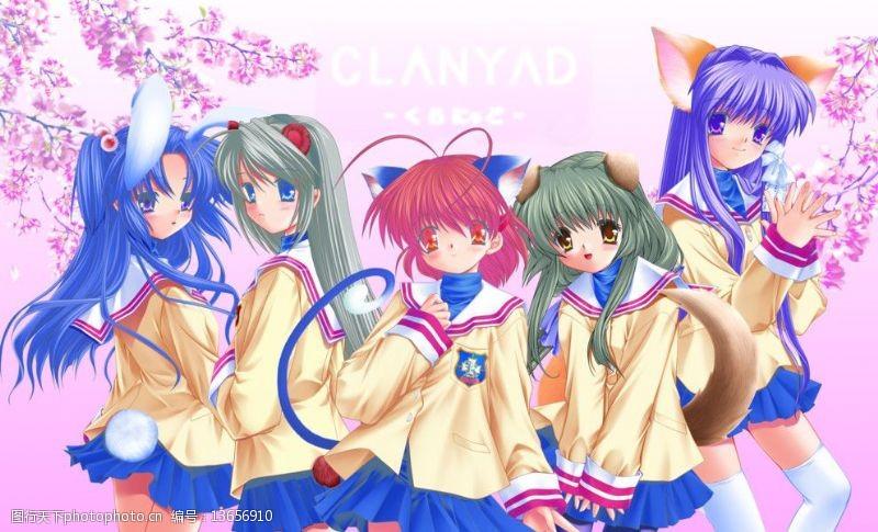 樱花广告动漫美少女图片