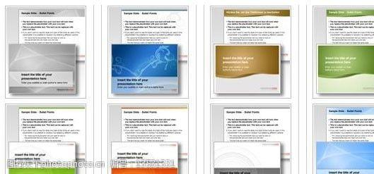 其他ppt模板欧美风格炫彩商务PPT模板4图片