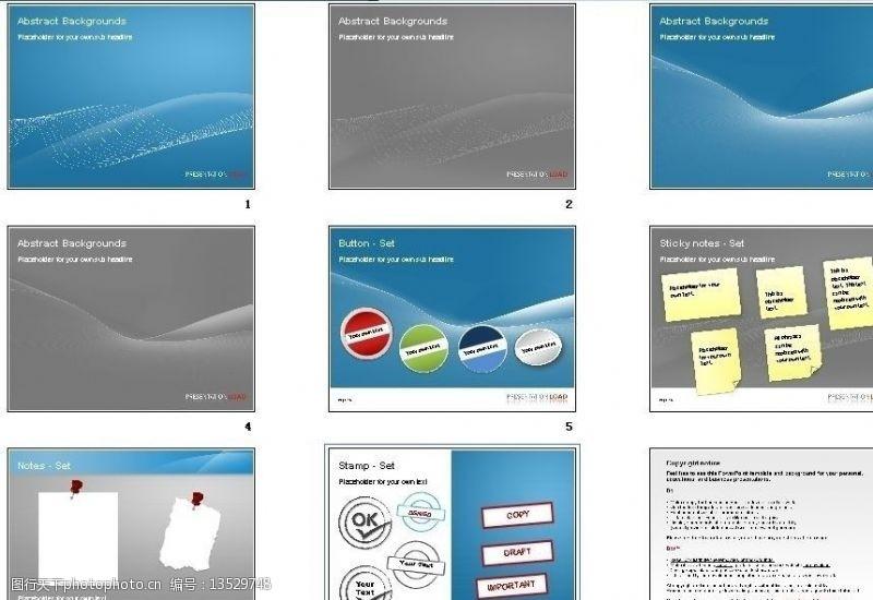 其他ppt模板欧美风格经典标记PPT模板图片