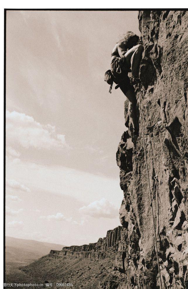 野外运动攀高图片