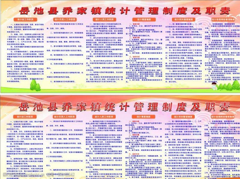 今晨图文镇统计管理制度及职责