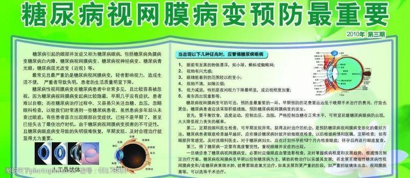 糖尿病视网膜宣传栏图片