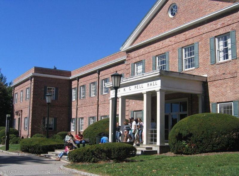 私立大学纽约长岛大学校园一角图片