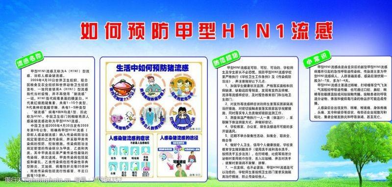 猪流感漫画如何预防甲型H1NI流感图片