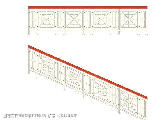 铸铁门西方建筑构件MAX素材图片