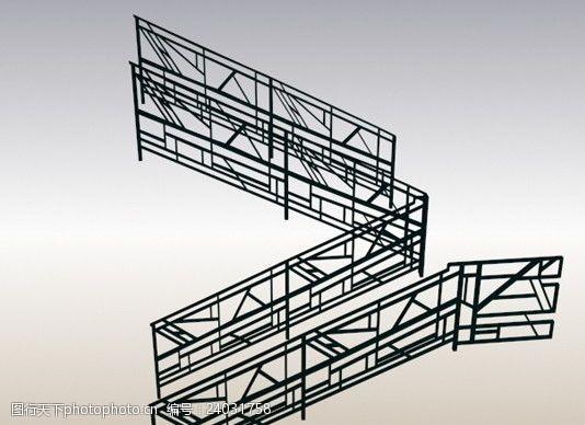 铸铁门西方建筑构件MAX素材