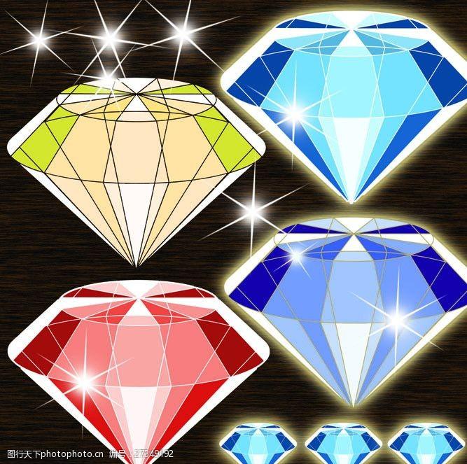 星星亮点钻石宝石PSD